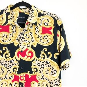 Drill Clothing Gold Black Stretch Button Down